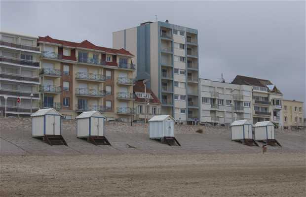 A praia e o pier