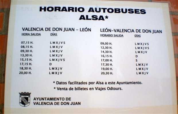 Estación de autobuses de Valencia de Don Juan