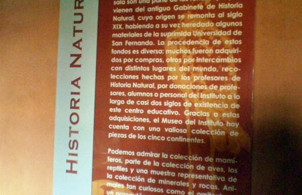 Museo de Historia Natural del I.E.S. Cabrero Pinto