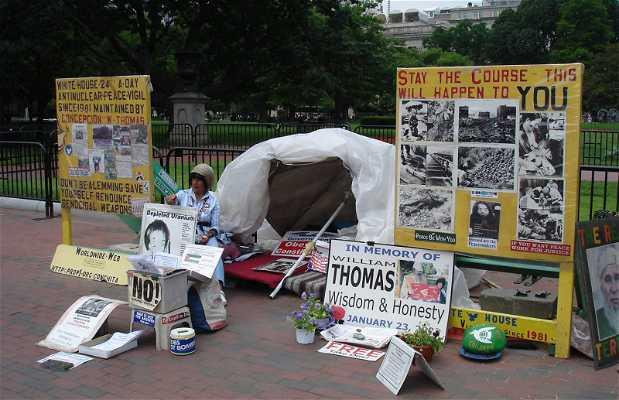 Una Vida de Protesta Frente a La Casa Blanca