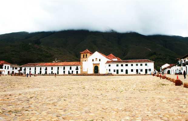 La piazza centrale di Villa de Leyva in Colombia