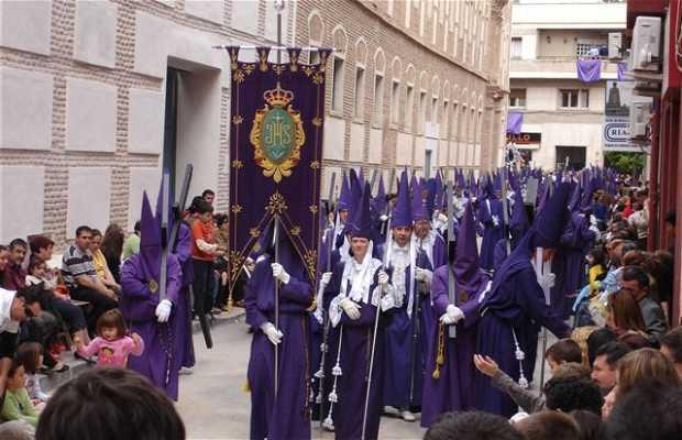 Salzillos en las calles de Murcia en Viernes Santo