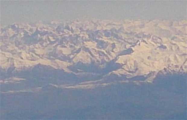 Alpes desde el cielo