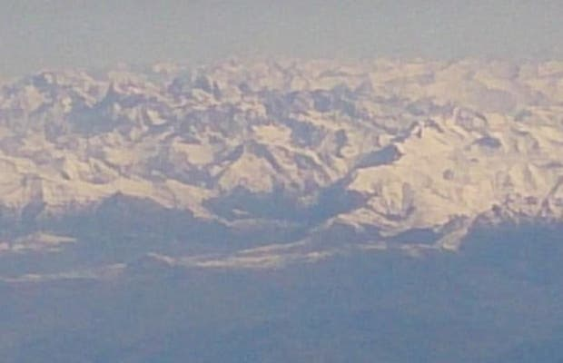 Alpes from the sky