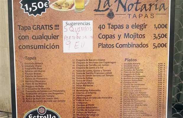 La Notaría, Bar de Tapas