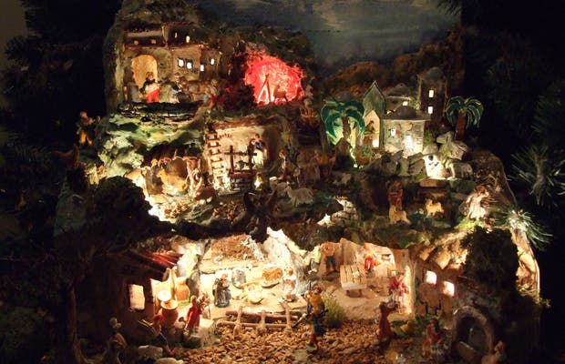 Exhibition of Nativity scenes in theTau Palace