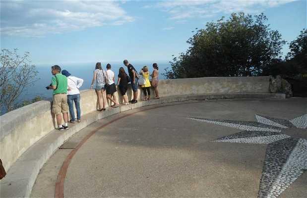 Point de vue depuis La Turbie sur Monaco