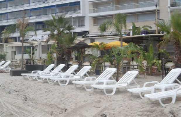Les plages privées de Juan Les Pins
