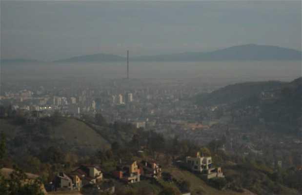 La vue depuis les hauteurs de Brasov