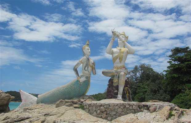 Mermaid statue at Koh Samet