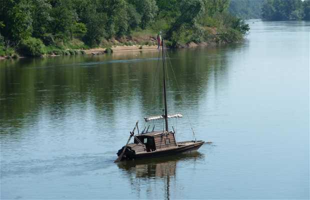 Vistas del río Loira desde Bréhémont
