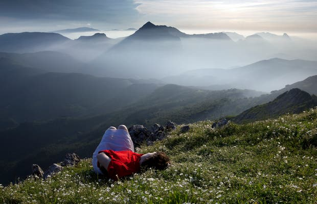 Cima del monte Udalaitz