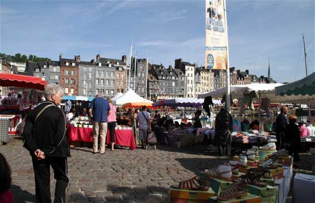Mercado del sabado en Honfleur