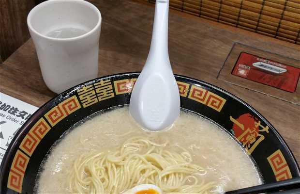 Disfrutar de ramen en Ichiran Umeda Hankyuhigashidori