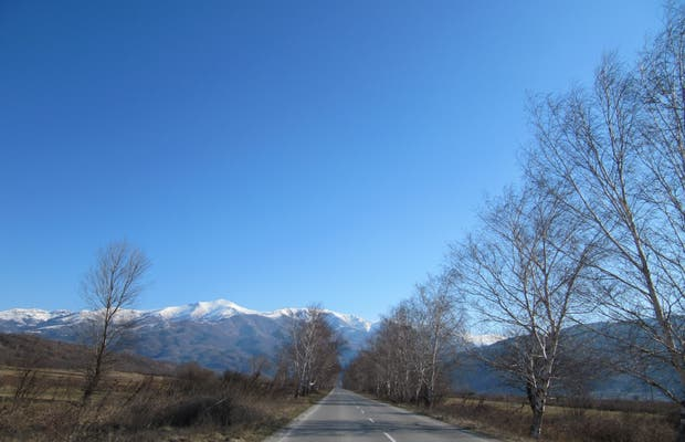 Road from Sofia to Rila