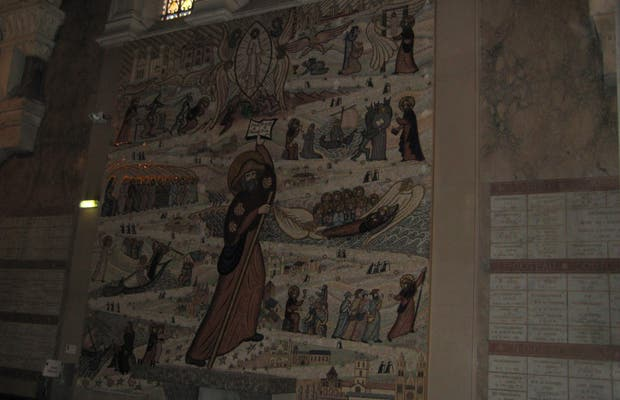La mosaïque de Saint Jacques de Compostelle