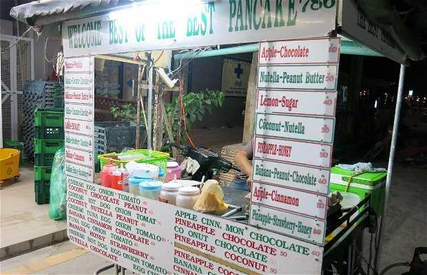 Puesto de pancakes de Chalok Baan Kao