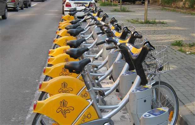 Public bicycles for rent Villo