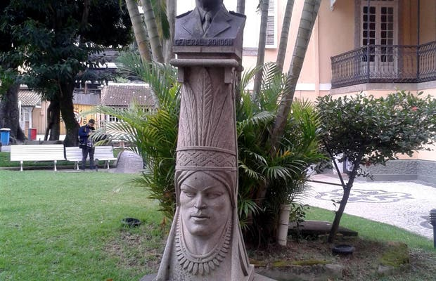 Busto do General Rondon no Museu do Índio