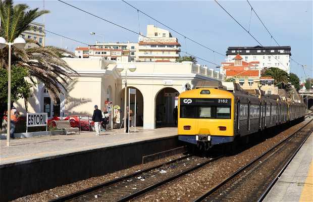 Train de banlieue Lisbonne-Cascais