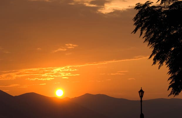 Anochecer en la isla de Paros