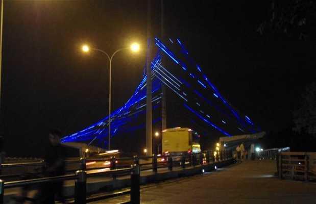 Le pont illuminé