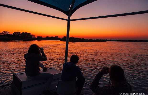 Cruzeiro no rio Okavango