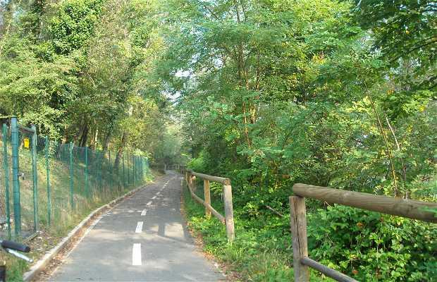 Camino para bicicleta Lago de Varese