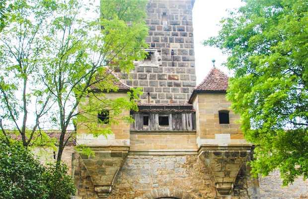 Castillo de Rothenburg Grafenburg oberhalb der Tauber