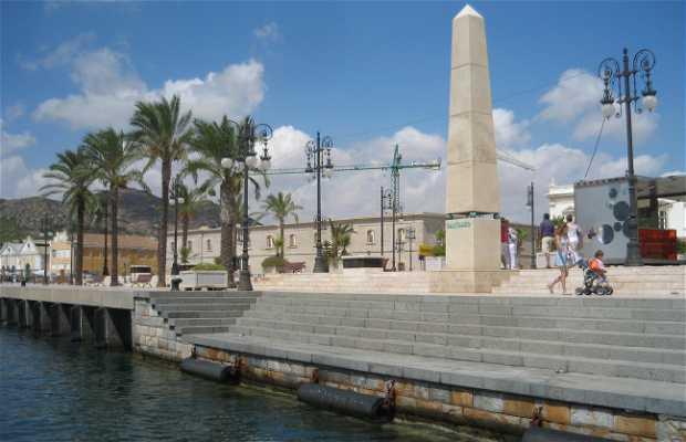 Desde o porto de Cartagena