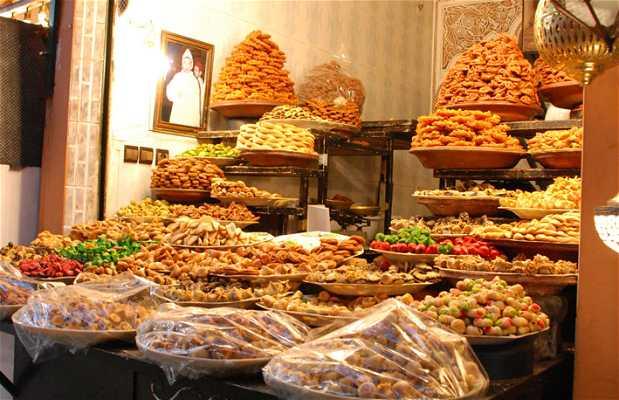 Tiendas de dulces árabes en Marrakech