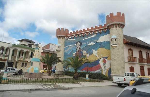 Plaza de los frescos de Simon Bolivar