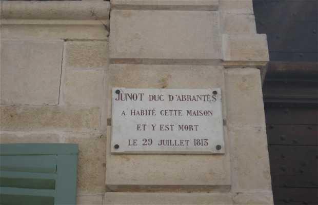 La maison natale de Junot, duc d'Abrantes