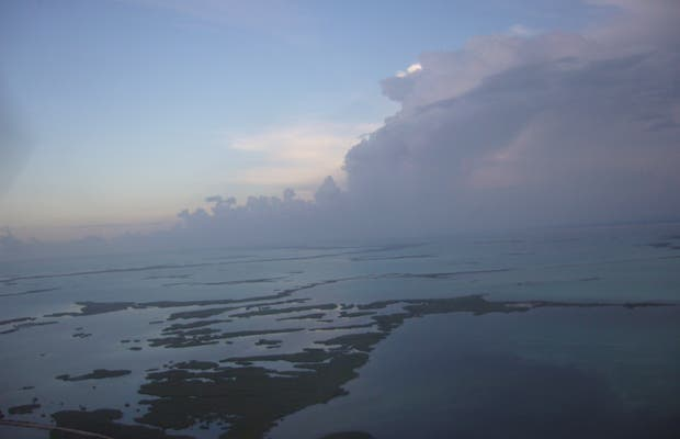 Vista aéra costa cubana