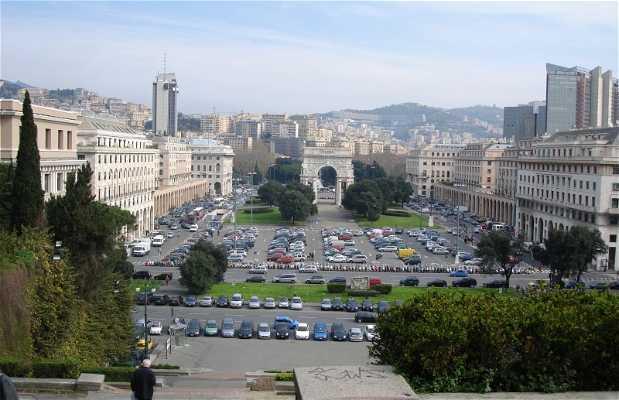 Piazza Corvetto a Genova