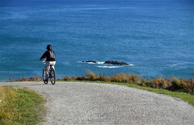 Bicicleta por la costa de Llanes