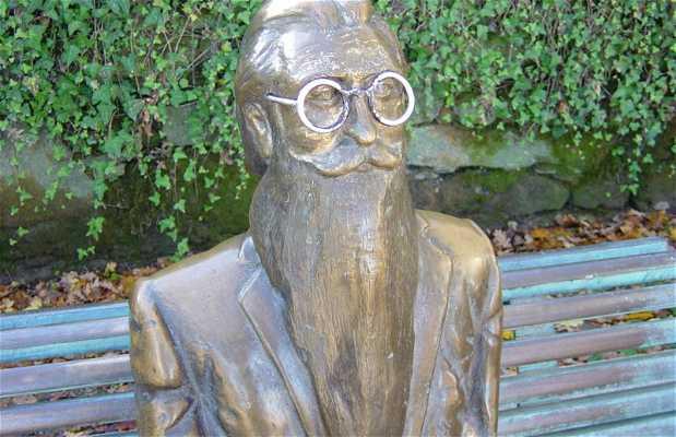 escultura do Valle- Inclán, San Tiago de Compostela