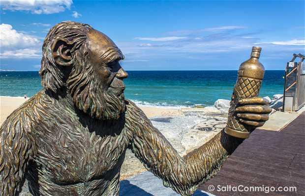 Estatua mono de Anís del mono, Badalona