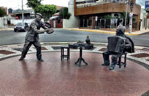 Estatua Jackson do Pandeiro e Luiz Gonzaga