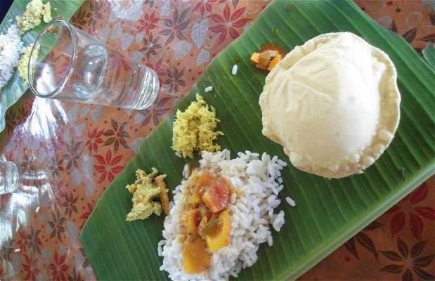 Le repas traditionnel de Vaikom