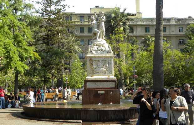 Piazza de Armas a Santiag del Cile