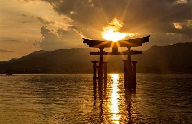 Puesta de sol en Miyajima