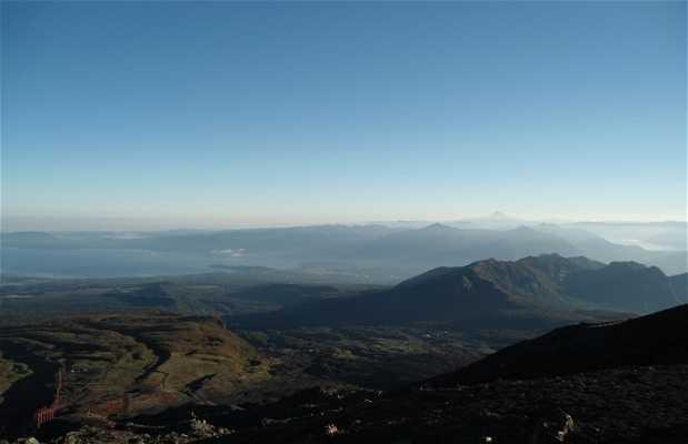 Vistas del la base del volcán Villarica