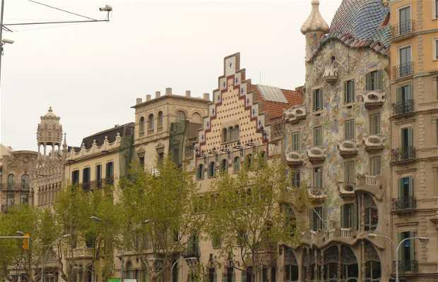 Il Paseo de Gracia di Barcellona