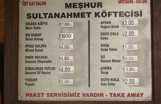 Tarihi Sultanahmet Köftecisi Selim Usta a Istanbul
