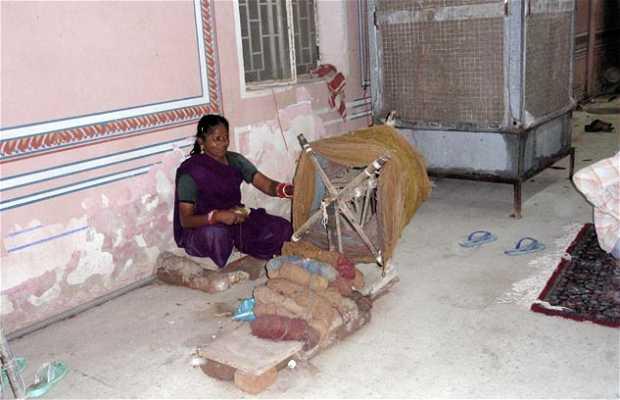 Demostración y tienda de alfombras