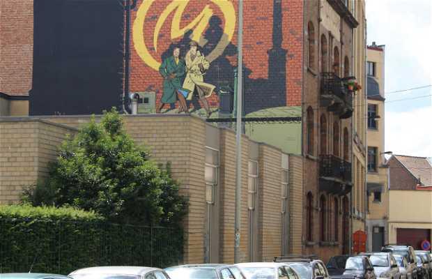 Mural de Blake & Mortimer - Jacobs