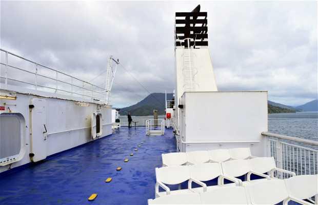 El paso en ferry de la Isla Sur a la Isla Norte