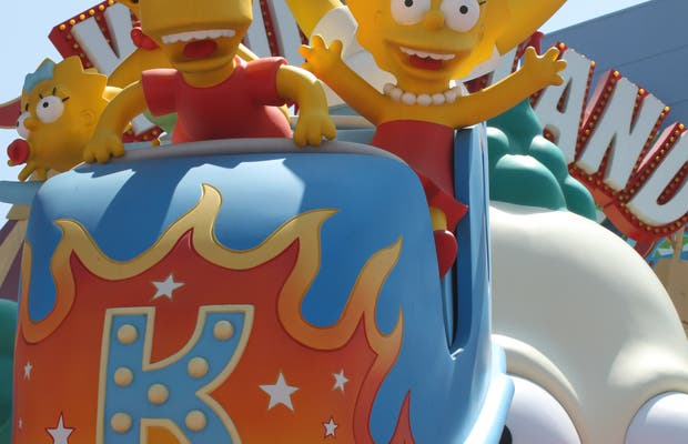 The Simpson Ride at Universal Studios