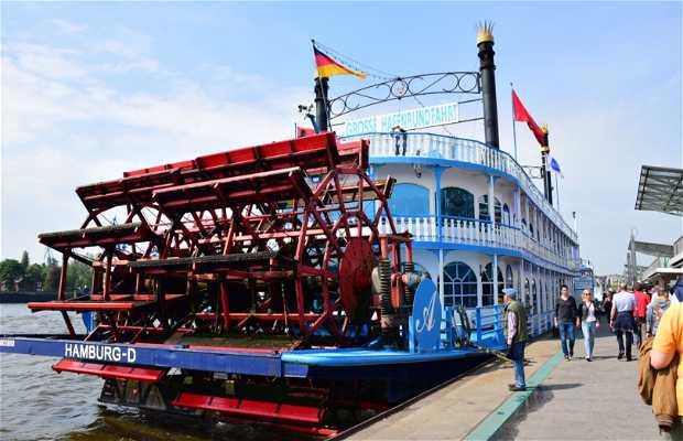 Barco por el río Elba - Barkassen-Meyer